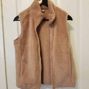 Blush furry vest